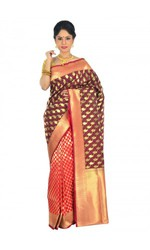 Buy Banarasi silk sarees for special occasions online .